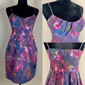 Nanette Lepore Silver Blaze Dress Metallic Sheen